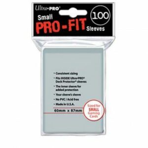 Ultra Pro: Small Sleeves – Pro-Fit Card (100 Sleeves)