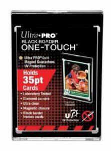Ultra Pro: 35PT Black Border UV One-Touch Soporte Magnetico