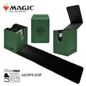 Ultra Pro: Caja De Mazo Alcove Flip Box Forest Verde