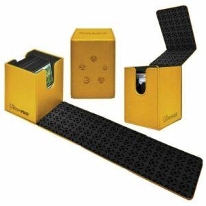 Ultra Pro: Caja De Mazo Alcove Flip Box Gold Oro