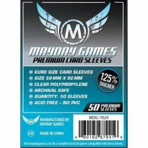 Mayday: Premium 59×92 Mm Euro Card Sleeves (50) (7029)