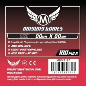 Mayday: 80×80 Mm Square Medium Card Sleeves (100) (7125)