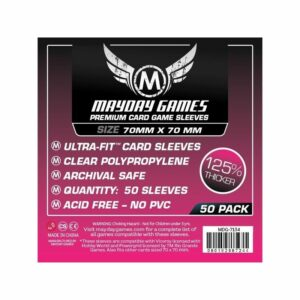 Mayday: Premium Small Square Card Sleeves 70×70 (50u)