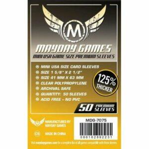 Mayday: Premium 41×63 Mini USA Card Sleeves (50) (7075)