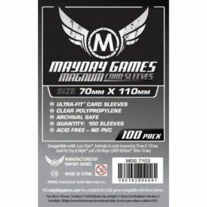 Mayday: Magnum Silver Sleeve: 70×110 (100u) (7103)