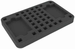 HSLP025BO 25 Mm HS F Tray With 36 Sq Compar + 2 Card-slot