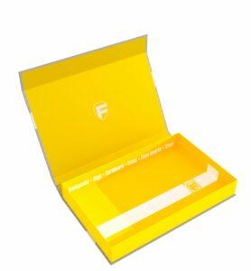 57417 Feldherr Magnetic Box Yellow Half-Size 40 Mm Empty