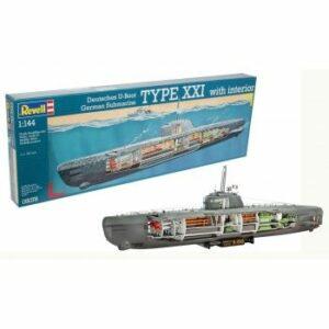 1:144 Revell 05078 – U-Boot Typ XXI U 2540 & Interieur