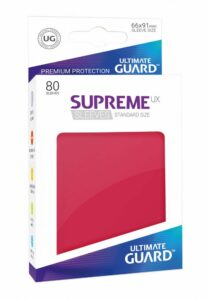 Ultimate Guard: Fundas Supreme UX Color Rojo (80 Unidades)