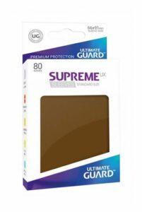 Ultimate Guard: Fundas Supreme UX Color Marron (80 Unidades)