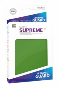 UG: Fundas Supreme UX De Cartas Estándar Verde Mate(80 Unds)