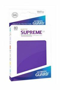 UG: Fundas Supreme UX De Cartas Estándar Violeta Mate (80)