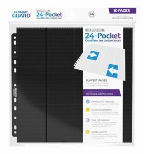 UG: 24-Pocket QuadRow Pages Side-Loading Negro (10unidades)