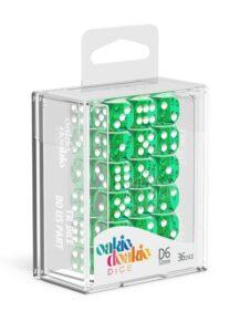 Oakie Doakie Dice Dados D6 12 Mm Translucent – Verde (36)