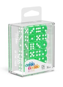 Oakie Doakie Dice Dados D6 12 Mm Speckled – Verde (36)