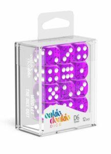 Oakie Doakie Dice Dados D6 12 Mm Speckled – Púrpura (36)