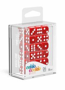 Oakie Doakie Dice Dados D6 12 Mm Solid – Rojo (36)