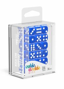 Oakie Doakie Dice Dados D6 12 Mm Solid – Azul (36)