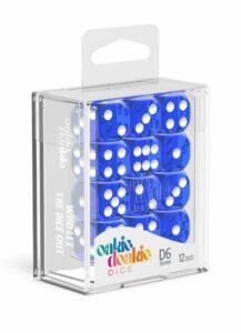 Oakie Doakie Dice Dados D6 16 Mm Translucent – Azul (12)