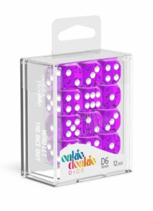 Oakie Doakie Dice Dados D6 16 Mm Translucent – Púrpura (12)