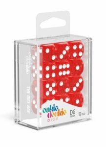 Oakie Doakie Dice Dados D6 16 Mm Speckled – Rojo (12)