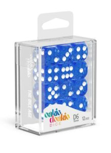 Oakie Doakie Dice Dados D6 16 Mm Speckled – Azul (12)