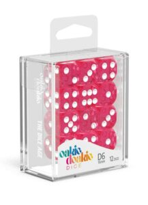 Oakie Doakie Dice Dados D6 16 Mm Speckled – Rosa (12)