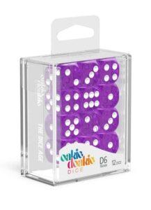 Oakie Doakie Dice Dados D6 16 Mm Speckled – Purpura (12)