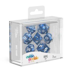 Oakie Doakie Dice Dados RPG-Set Marble – Azul (7)