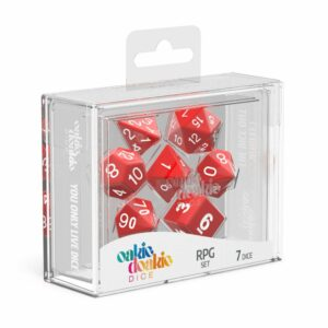 Oakie Doakie Dice Dados RPG-Set Solid – Rojo (7)