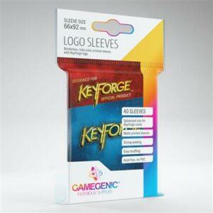 Gamegenic: KeyForge Blue Logo Sleeves  (40 Fundas)