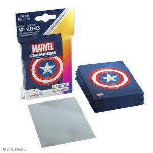 Marvel Champions: Fundas / Sleeves Captain America