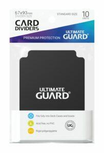 UG: Card Dividers Tamaño Estándar – Negras (10)