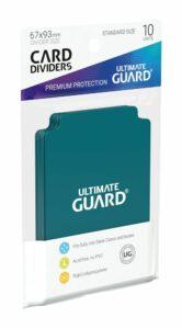 UG: Card Dividers Tamaño Estándar Azul Gasolina (10)