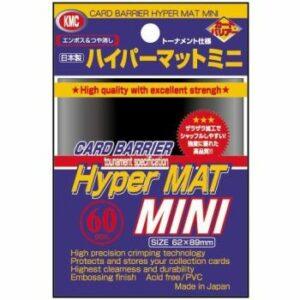 KMC: Small Sleeves – Hyper Mat Black (60 Sleeves)