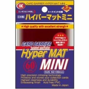 KMC: Small Sleeves – Hyper Mat Red (60 Sleeves)