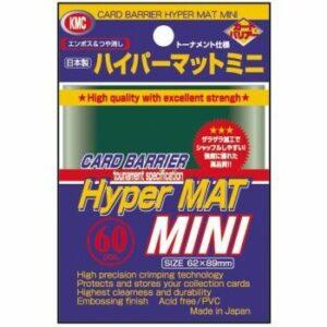KMC: Small Sleeves – Hyper Mat Green (60 Sleeves)
