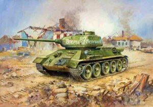 1:100 Soviet Tank T-34/85   ZVE6160