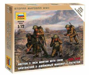 1:72 British Mortar W/crew 1939-42  ZVE6168