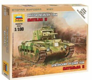"""1:100 British Tank """"Matilda II""""   ZVE6171"""