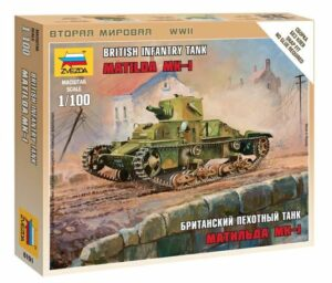 "1:100 British Light Tank ""Matilda Mk I""  ZVE6191"