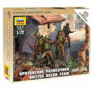 1:100 British Reconnaissance Team WWII  ZVE6226