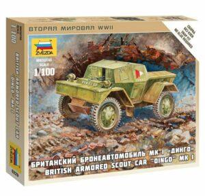 "1:100 British Armored Scout Car ""Dingo"" Mk.I  ZVE6229"