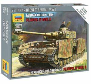 1:100 Panzer IV Ausf.H German Tank WWII  ZVE6240