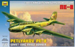 1:72 Zvezda 7264 Petlyakov Pe-8 Soviet Bomber