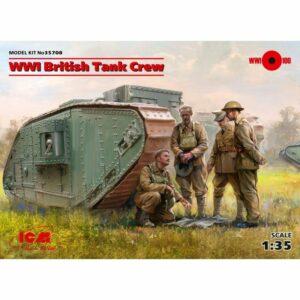 1:35 ICM WWI British Tank Crew (4 Figures) (35708)