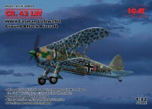 1:32 Fiat CR.42 LW WWII German Luftwaffe Ground A A ICM32021
