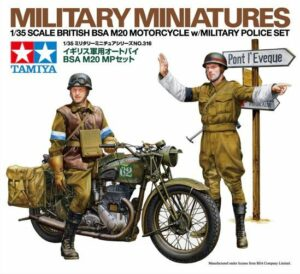 1:35 Tamiya: British BSA M20 Motorcycle W/Military Police