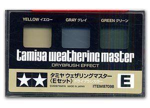 Tamiya Weathering Set E – Yellow/Gray/Green (87098)