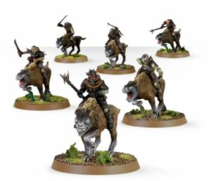 Middle Earth Strategy Battle Game: Warg Riders (30-37)